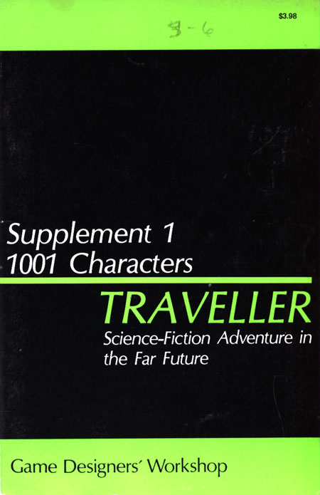 Image - Traveller Supplement 1: 1001 Characters