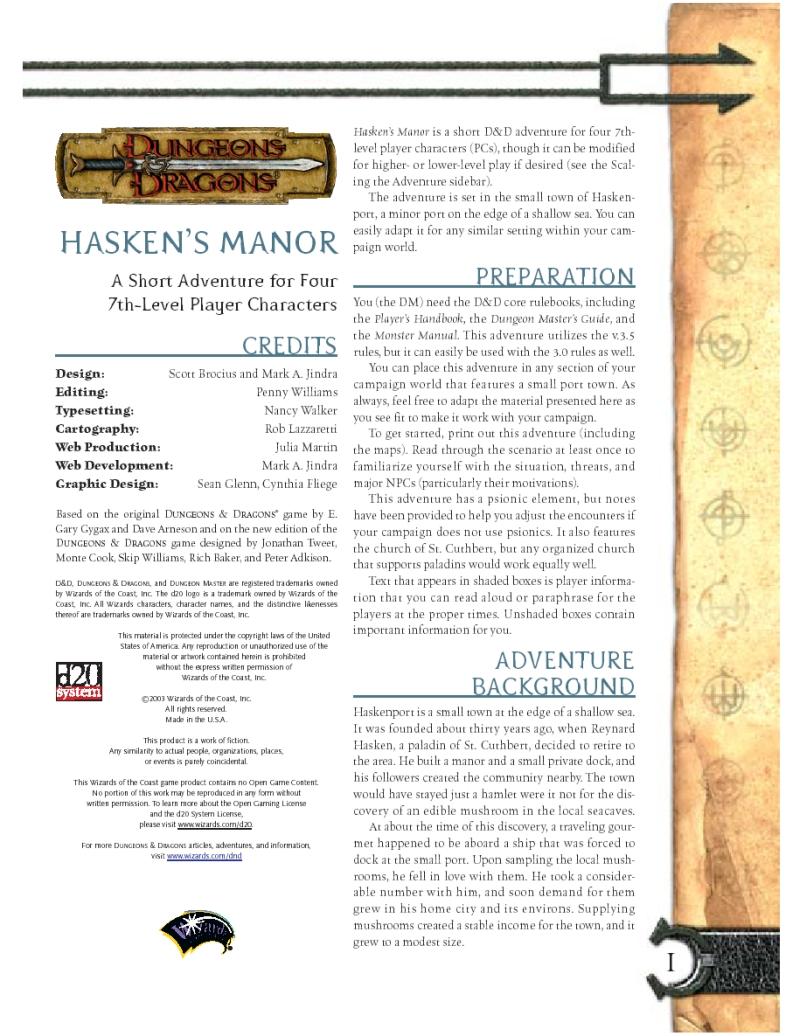 Cover of Hasken's Manor